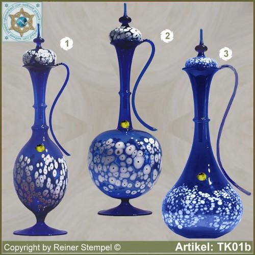 karaffe mit deckel blau in 3 varianten mit weissem. Black Bedroom Furniture Sets. Home Design Ideas